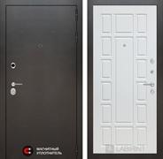 Входная дверь Лабиринт Сильвер 12 (Антик темное серебро / Белое дерево)
