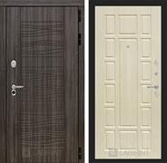 Входная металлическая дверь Лабиринт Сканди 12 (Дарк Грей / Дуб беленый)