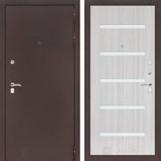 Входная металлическая дверь Лабиринт Классик 1 (Антик медный / Сандал белый)