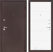 Входная металлическая дверь Лабиринт Классик 13 (Антик медный / Белый софт)