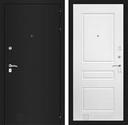 Входная металлическая дверь Лабиринт Классик 3 (Шагрень черная / Белый софт)