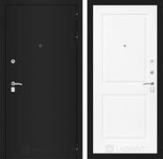 Входная металлическая дверь Лабиринт Классик 11 (Шагрень черная / Белый софт)