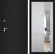 Входная дверь Лабиринт Классик Зеркало (Шагрень черная / Акация светлая)