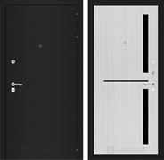Входная металлическая дверь Лабиринт Классик 2 (Шагрень черная / Сандал белый)