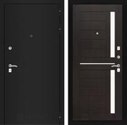 Входная металлическая дверь Лабиринт Классик 2 (Шагрень черная / Венге)