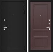 Входная металлическая дверь Лабиринт Классик 3 (Шагрень черная / Орех премиум)
