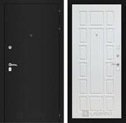 Входная металлическая дверь Лабиринт Классик 12 (Шагрень черная / Белое дерево)