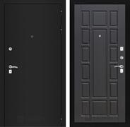 Входная металлическая дверь Лабиринт Классик 12 (Шагрень черная / Венге)