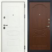 Входная дверь Лекс Сенатор 3К Шагрень белая (№12 Береза мореная)