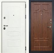 Входная дверь Лекс Сенатор 3К Шагрень белая (№26 Береза мореная)