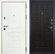 Входная дверь Лекс Сенатор 3К Шагрень белая (№21 Венге)