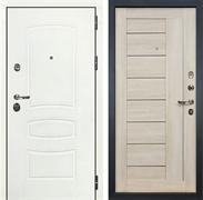 Входная дверь Лекс Сенатор 3К Шагрень белая Верджиния (№40 Ясень кремовый)