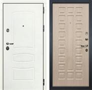 Входная дверь Лекс Сенатор 3К Шагрень белая (№20 Дуб беленый)