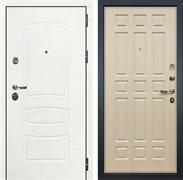 Входная дверь Лекс Сенатор 3К Шагрень белая (№28 Дуб беленый)