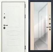 Входная дверь Лекс Сенатор 3К Шагрень белая с Зеркалом Стиль (№45 Дуб беленый)