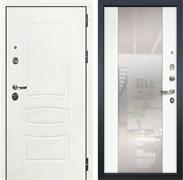 Входная дверь Лекс Сенатор 3К Шагрень белая с Зеркалом Стиль (№61 Ясень белый)