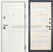 Входная дверь Лекс Сенатор 3К Шагрень белая Сицилио (№46 Дуб беленый)