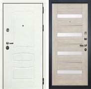 Входная дверь Лекс Сенатор 3К Шагрень белая Сицилио (№48 Ясень кремовый)