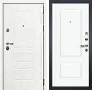 Входная дверь Лекс Сенатор 3К Шагрень белая Вероника-1 (№55 Эмаль Белая)