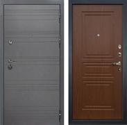 Входная дверь Лекс Сенатор 3К Софт графит (№19 Береза мореная)