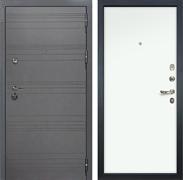 Входная дверь Лекс Сенатор 3К Софт графит (№59 Белый Винорит)