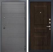 Входная металлическая дверь Лекс Сенатор 3К Софт графит (№60 Алмон 28)