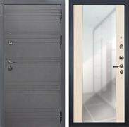 Входная дверь Лекс Сенатор 3К Софт графит с Зеркалом Стиль (№45 Дуб беленый)