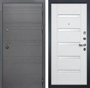 Входная дверь Лекс Сенатор 3К Софт графит (№34 Ясень белый)
