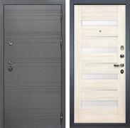 Входная дверь Лекс Сенатор 3К Софт графит Сицилио (№46 Дуб беленый)
