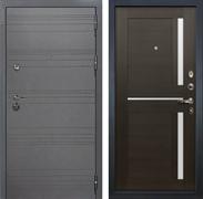 Входная металлическая дверь Лекс Сенатор 3К Софт графит Баджио (№50 Венге)