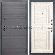Входная дверь Лекс Сенатор 3К Софт графит Баджио (№47 Дуб беленый)