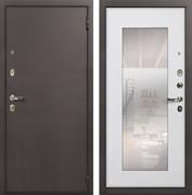 Входная стальная дверь Лекс 1А с Зеркалом (№37 Ясень белый)
