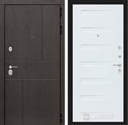 Входная металлическая дверь Лабиринт Урбан 14 (Дуб горький шоколад / Дуб кантри белый)