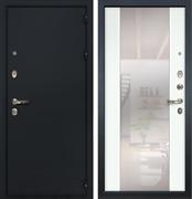 Входная металлическая дверь Лекс Рим Стиль с Зеркалом Ясень белый (панель №61)