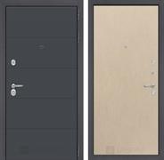 Входная металлическая дверь Лабиринт Арт 5 (Графит софт / Венге светлый)
