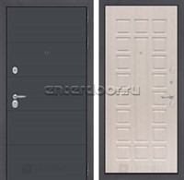 Входная металлическая дверь Лабиринт Арт 4 (Графит софт / Дуб беленый)