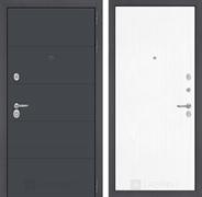 Входная металлическая дверь Лабиринт Арт 7 (Графит софт / Белое дерево)