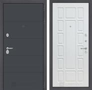 Входная металлическая дверь Лабиринт Арт 12 (Графит софт / Белое дерево)