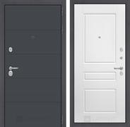 Входная металлическая дверь Лабиринт Арт 3 (Графит софт / Белый софт)