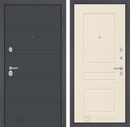 Входная металлическая дверь Лабиринт Арт 3 (Графит софт / Крем софт)