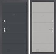 Входная металлическая дверь Лабиринт Арт 13 (Графит софт / Грей софт)
