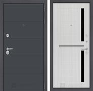 Входная металлическая дверь Лабиринт Арт 2 (Графит софт / Сандал белый)