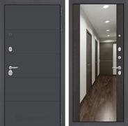 Входная дверь Лабиринт Арт с Зеркалом Максимум (Графит софт / Венге)