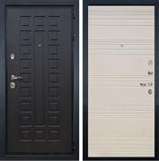 Входная металлическая дверь Лекс Гладиатор 3К Дуб фактурный кремовый (панель №63)