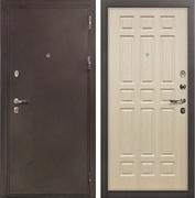 Входная металлическая дверь Лекс 5А Цезарь Беленый дуб (панель №28)