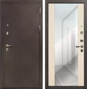 Входная дверь Лекс 5А Цезарь Стиль с Зеркалом Беленый дуб (панель №45)