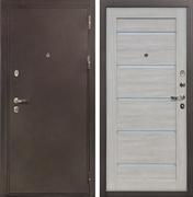 Входная металлическая дверь Лекс 5А Цезарь Клеопатра-2 Ясень кремовый (панель №66)