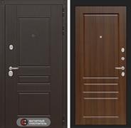 Входная металлическая дверь Лабиринт Мегаполис 3 (Венге / Орех бренди)
