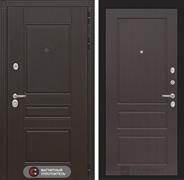 Входная металлическая дверь Лабиринт Мегаполис 3 (Венге / Орех премиум)