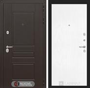 Входная металлическая дверь Лабиринт Мегаполис 7 (Венге / Белое дерево)
